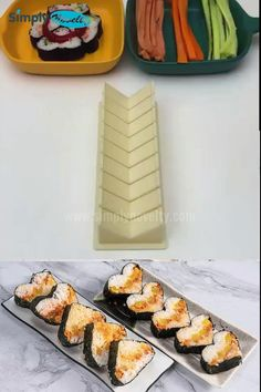 Sushi Recipes, Appetizer Recipes, Vegan Recipes, Dinner Recipes, Wonton Recipes, Indian Dessert Recipes, Salmon Recipes, Appetizers, Cooking Gadgets