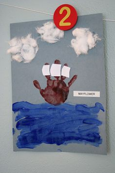Read a book and then make an art project out of it! For example a book on the mayflower...