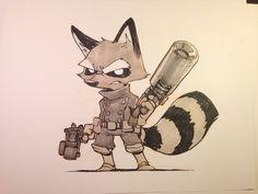 MR. JAKE PARKER • Little Rocket Raccoon to finish off the week.