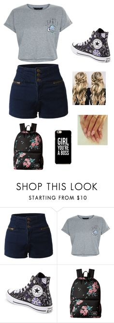 """Untitled #33"" by lemonitadr on Polyvore featuring LE3NO, New Look, Converse and Vans"