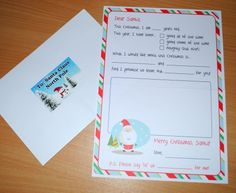Letter to Santa kit with Envelope Your child will love writing their Letter to Santa and sent it in the envelope included with santa address on it. Kit includes: 1 letter 1 envelope with. Santa Address, Christmas Ideas, Merry Christmas, Santa Letter, Your Child, Personalized Gifts, Envelope, Kit, Lettering