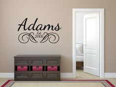 custom name decals for walls