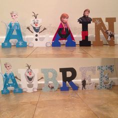 Frozen Wooden Customized Letters by CreativeDreamsEvents on Etsy