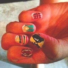 One direction signature clothes nails.