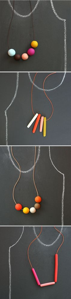 polymer clay beads by rachel wightman