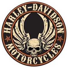 Harley-Davidson Flying Skull Button Sign