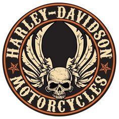 Harley-Davidson Flying Skull Button Sign