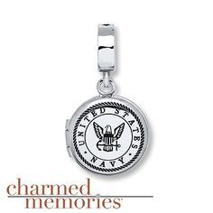 Charmed Memories Army Dangle Charm Sterling Silver yLyjzVqe