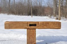 Hand Hewn White Oak with Mortise Kiln Dry, Fireplace Mantels, White Oak, Outdoor Furniture, Outdoor Decor, Beams, Home Decor, Homemade Home Decor, Fireplace Mantel