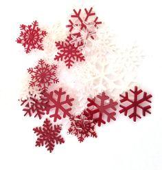 * perspex laser cut Christmas confetti * laser cutting by Purple puppy studio
