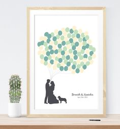Items similar to Wedding guest book alternative with custom silhouette, unique guestbook idea wedding guest sign-in wedding print on Etsy Diy Wedding, Wedding Favors, Wedding Stuff, Wedding Ideas, Wedding Prints, Wedding Guest Book Alternatives, Nerdy, Balloons, Wedding Inspiration