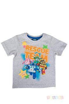 T-shirt Robocar Poli gris chiné https://www.toluki.com/prod.php?id=980 #enfant #Toluki #Robocar