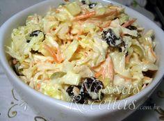 Receita de salpicão preparado com frango, legumes e molho de maionese
