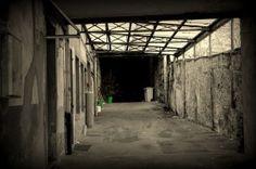 bleak hall gloomy monochrome sepia