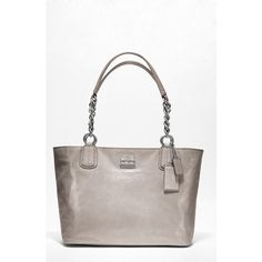 Coach Chelsea Metallic Leather Tote ($328) ❤ liked on Polyvore
