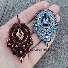 Soutache Pendant, Soutache Earrings, Ring Earrings, Crochet Earrings, Ethnic Jewelry, Diy Jewelry, Jewelery, Handmade Jewelry, Jewelry Making