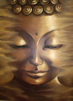 Serene Buddha face