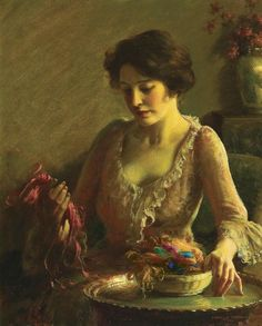 Choosing the Colors Charles Courtney Curran