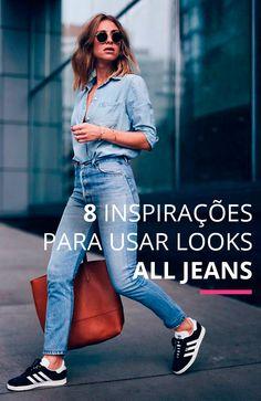 Quer inovar na hora de misturar o jeans? 8 inspirações fresquinhas pra você arrasar!