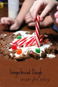 Gingerbread dough made from only 4 ingredients, perfect for open ended Christmas sensory play!
