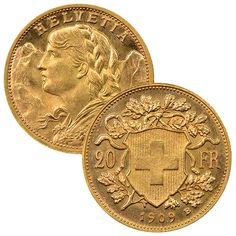 Buy Swiss Gold Coins from Money Metals. The 20 Francs are a great way to buy fractional sized gold coin. Very Low Cost Option for Investors who want to hold smaller coins in their portfolio. Bullion Coins, Gold Bullion, Gold Exchange, Exchange Rate, Gold Ounce, Gold Coins For Sale, Gold Cost, Gold Money, Gold Rate