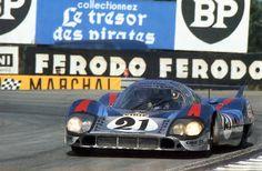 Le Mans 1971.Vic Elford / Kurt Ahrens , Porsche 917LH.