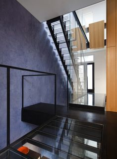 Beautifully Textured Venetian Plaster Wall in an Ultra-Modern Home.  www.stuccofortworth.com