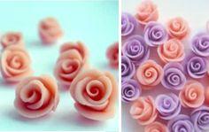 flores em biscuit