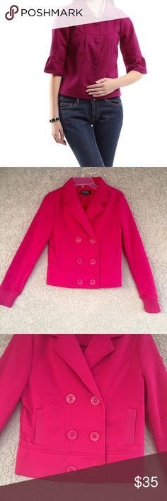 🆕Dark pink color jacket Beautiful Pink  color jacket . 1st pic is not actual item . Just to give you the idea . Please See last 3 pics for exact color and details .      🖌Material is 100% polyester .  Feel free to ask any Q before you buy . Jackets & Coats