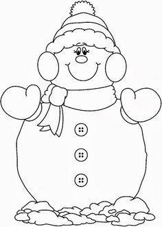 christmas girl snowman coloring pages - photo#9