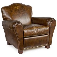 Vintage Brown Bastille Club Chair Dimensions: 33.5 x 33 x 32.5H
