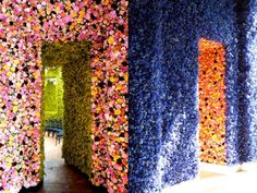 Dior -   one million fresh flowers painstakingly cut and arranged to decorate the walls of the five private salons playing host to Raf Simons' debut, the set has rightfully earned a short film paying tribute to the effort involved in bringing it to life