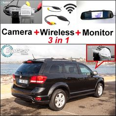 64.43$  Watch now - http://aliw0z.worldwells.pw/go.php?t=32468900319 - 3 in1 Special Rear View Camera + Wireless Receiver + Mirror Monitor EASY DIY Backup Parking System For FIAT Freemont 2009~2014 64.43$