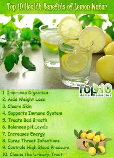 Top 10 Health Benefits of Lemon Water