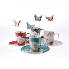 Maxwell Williams Kimono collection is a adorable unique Japanese inspired products like mugs, plates, cake stands, saucers and cups. It is a high quality collection made from white porcelain and you can find it at affordable prices. Bring style to your kitchen!