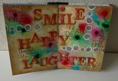 Creabest: Art journal: smile, happy, laughter
