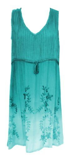 d086573b1839 Raya Sun Embroidered Pintuck Ombre Dress Cover Up M-XL and 1X-3X at Amazon  Women s Clothing store  Plus Size Sundresses For Women