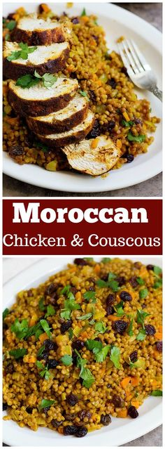 Low Unwanted Fat Cooking For Weightloss Enjoy A Festival Of Flavors With This Moroccan Chicken Recipe. Chicken Breast Marinated In Aromatic Spices And Cooked To Perfection - And Served With Delicious Couscous - Makes This The Perfect Meal Couscous Chicken, Chicken Spices, Couscous Salad, Chicken Kitchen, Tortellini, Morrocan Food, Moroccan Couscous, Moroccan Chicken, Couscous Recipes