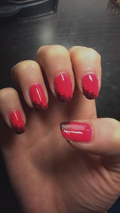 """Orly """"listen to your heart"""" & Sally Hanson """"back to black for the stamping decal."""