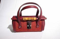 100 Real Super Rare Tom Ford Red Gucci Baby Bullet Handbag Purse Gg Print Veuc