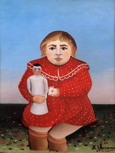 Giclee Print: Child/Doll Art Print by Henri Rousseau by Henri Rousseau : Child Doll, Girl Dolls, Henri Rousseau Paintings, Avant Garde Artists, Georges Seurat, Doll Painting, Post Impressionism, Oil Painting Reproductions, Pilgrim
