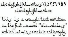 pseudo-Arabic alphabet (nastaliq) for embroidery