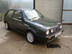 golf mk2 gti, not this one but same color, wheels...