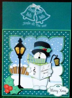 Card Gallery - 8x8 Christmas Singing Snowman Rio Mini Kit 3D Decoupage