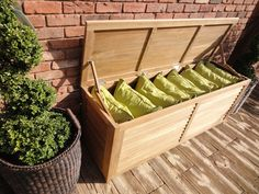 Boot Storage, Outdoor Storage, Outdoor Cushions, Small Boxes, Storage  Spaces, Storage Boxes, Teak, Tropical Garden, Small Gardens