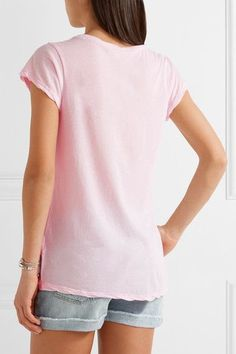 James Perse - Cotton-jersey T-shirt - Pastel pink - 0