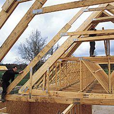 Conseils et étapes d'une construction bois House Styles, Wood, Home Decor, Minis, Villa, How To Build, Log Homes, Beds, Build Your House