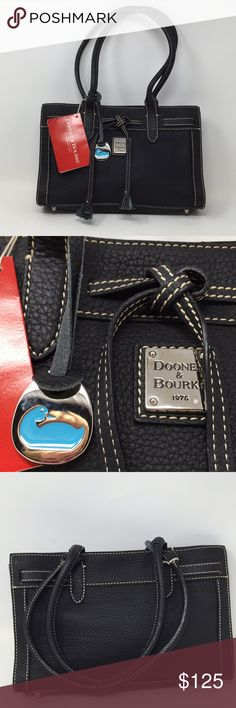 NWT Dooney & Bourke Black North West Tote New with Tags Black Pebbled Leather Dooney & Bourke Small North West Tote. Measures 7x11x2.5. No trades Dooney & Bourke Bags
