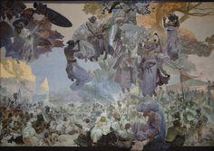Alphonse Mucha: 'The Slav Epic' cycle No.2: The Celebration of Svantovít (1912)