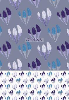 Flower pattern by illustrator Isabelle Stolar